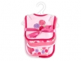6 Piece Bib & Burp Cloth Set - Rose