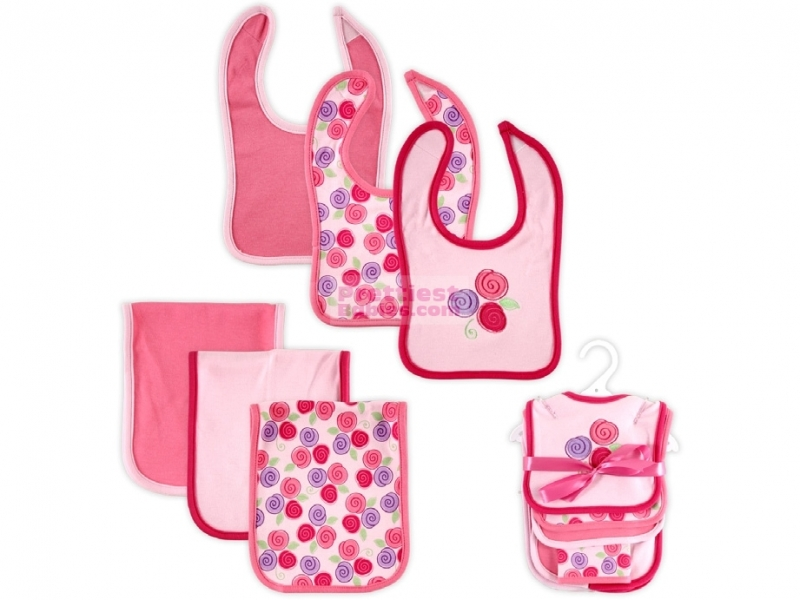 6 Piece Bib Burp Cloth Set Rose Baby Clothes Baby Products