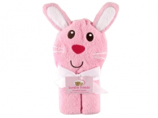 Animal Face Hooded Towel with Embroidery (Bunny)