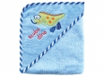 Super-soft Hooded Bath Towel - Woven Terry (Scuba Dino)