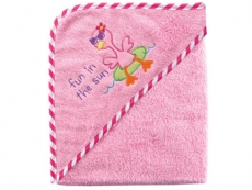 Super-soft Hooded Bath Towel - Woven Terry (Fun in the Sun)
