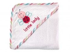 Applique Hooded Towel (Little Lady)