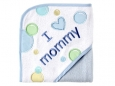 I Love Appliqued Hooded Towel (I Love Mommy)