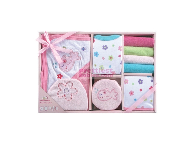 Baby Gift Bath Sets : Bath time gift set pc pink baby clothes
