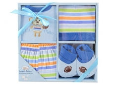 Playtime Layette Box Set 4pc (Blue)