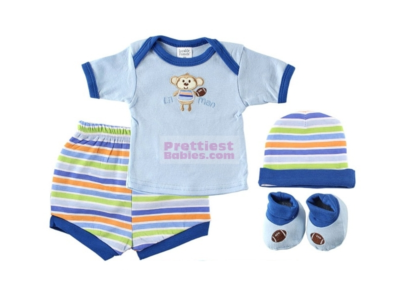 Playtime Layette Box Set 4pc Blue Baby Clothes Baby Products