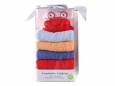Bath Toy & 4 Washcloths (Blue)