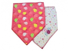 Triangle Trendy Bib 2pk (Maroon & Bird)