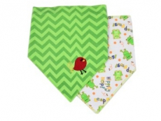 Triangle Trendy Bib 2pk (Green)