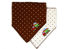 Triangle Trendy Bib 2pk (Brown)