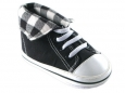 Fold Down Hi-Top Sneakers (Black)