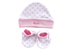 Cap & Booties Set (Love)