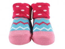 Baby Socks (Girl) - Zig Zag Design