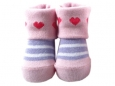 Baby Socks (Girl) - Love & Purple Stripe