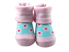 Baby Socks (Girl) - Flower Design 2