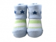 Baby Socks (Boy) - Light Green Stripe