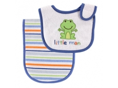 Deluxe Bib & Burp Cloth - Blue