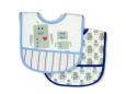 Polyester Bib with Waterproof Backing 2pc (Design A)