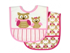 Polyester Bib with Waterproof Backing 2pc (Design B)