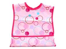 PEVA Velco Pocket Bib (Pink)