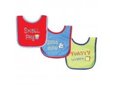 Food Sayings Bib 3pc (Design A)
