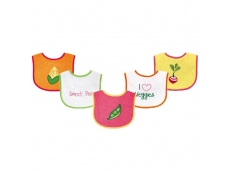 Food Bibs 5pc (Design B)
