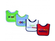Baby Sayings Bibs 4pc (Design A)