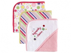 Sayings Hooded Towels 3pk (Pink)