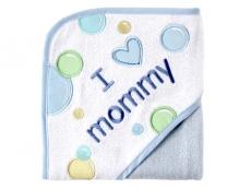 I Love Appliqued Hooded Towel (I Love Mommy)