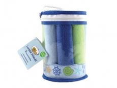 Washcloths 8pc & Bonus Sponge (Blue)