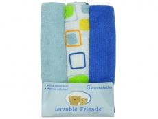 Washcloths 3pk (Blue)