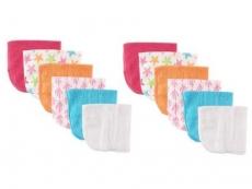 Washcloths 12pk (Pink Starfish)