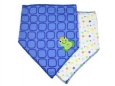 Triangle Trendy Bib 2pk (Blue Square)