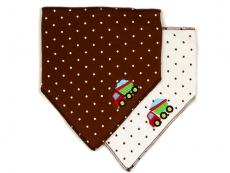 Triangle Trendy Bib 2pk (Brown)