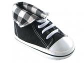 Fold Down Hi-Top Sneakers (Black)