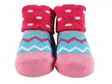 Baby Socks (Girl) - Zig Zag Design