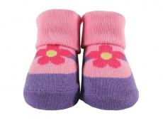 Baby Socks (Girl) - Flower Design