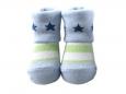 Baby Socks (Boy) - Light Green Stripe