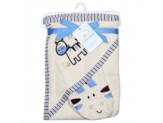 Velour Terry hooded Towel & Wash Mitten - Horse