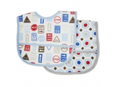 Polyester Bib with Waterproof Backing 2pc (Design C)