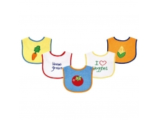 Food Bibs 5pc (Design A)