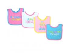 Baby Sayings Bibs 4pc (Design E)